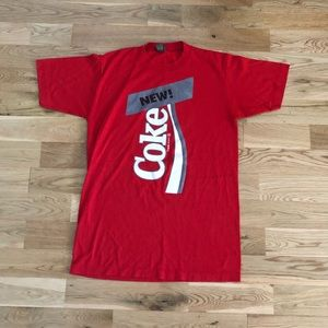 Vintage 70's Coca Cola Coke Soda Promo Red T-Shirt